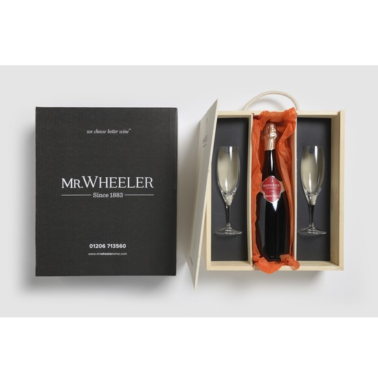 Gosset Champagne & Flutes Gift Box