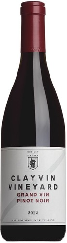 2012 Grand Vin Pinot Noir, 'Clayvin Vineyard', Marlborough