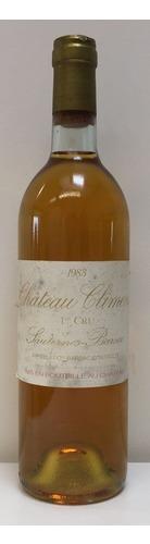 1972 Chateau Climens, 1er Cru Barsac
