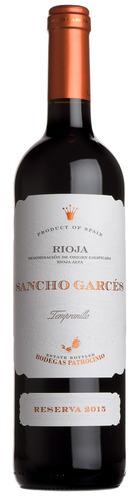 2015 Rioja Reserva, Sancho Garces, Patrocinio