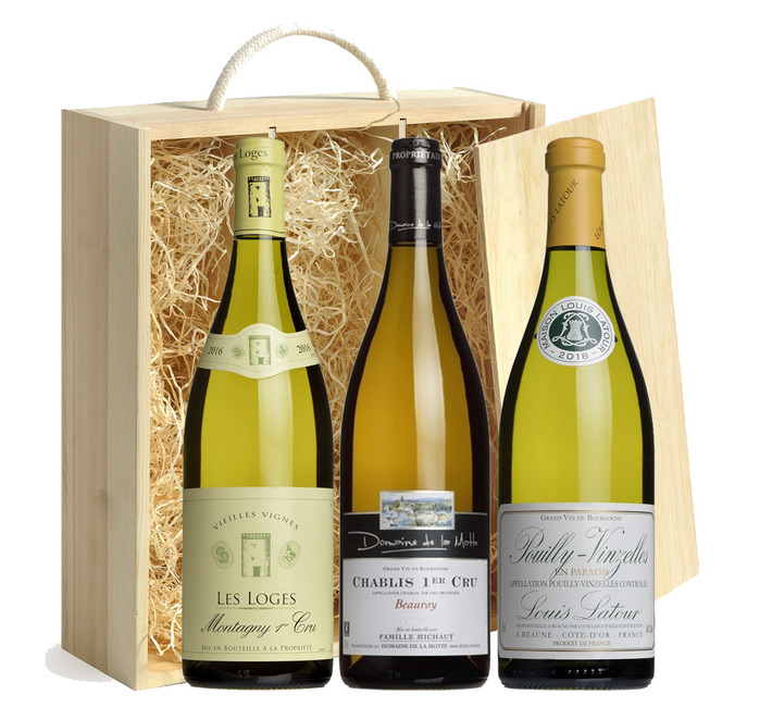 Top White Burgundy Gift Trio