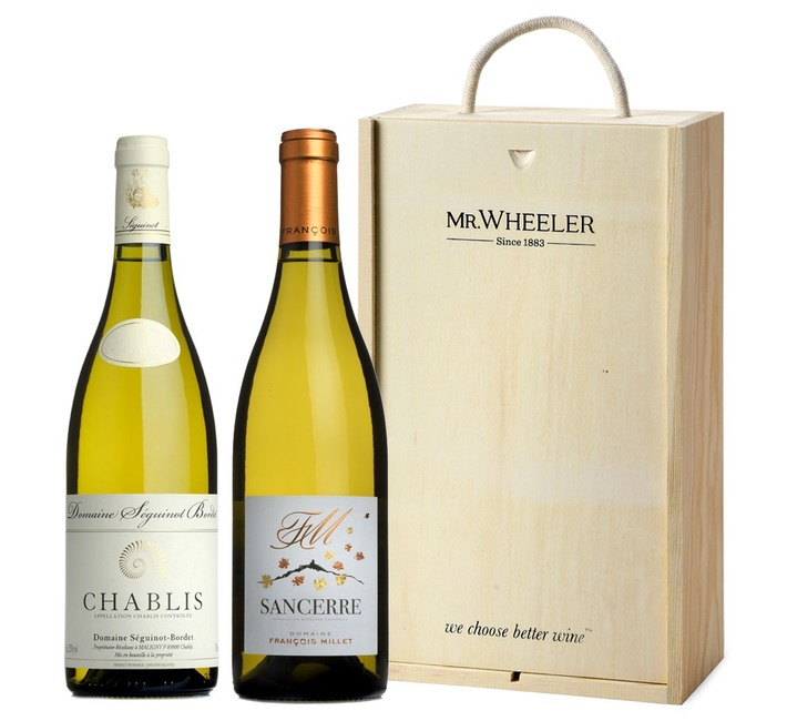 Fine French White Duo Wine Gift Box