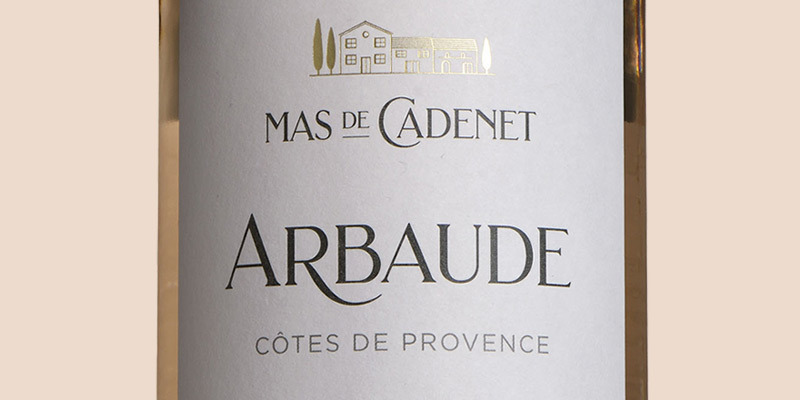 Arbaude Rosé, Mas de Cadenet, Provence 2020