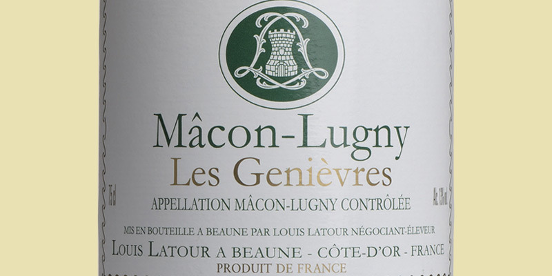 Mâcon-Lugny 'Les Genièvres', Louis Latour 2020