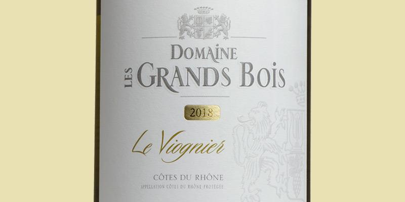 Côtes-du-Rhône Viognier, Domaine Les Grands Bois 2020