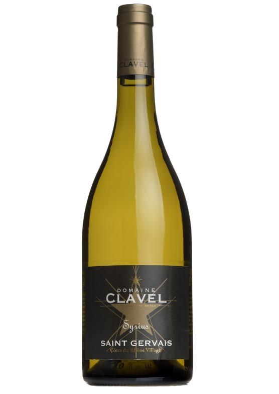 2018 'Syrius' Blanc Côtes du Rhône Villages St Gervais, Domaine Clavel