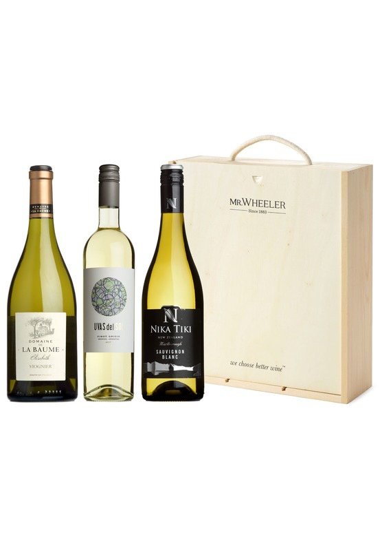 Great White Grapes Trio Wine Gift Box
