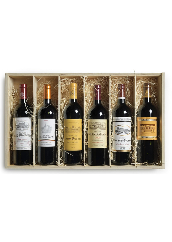 Vintage Claret 'Across the Ages' Wooden Mixed Case